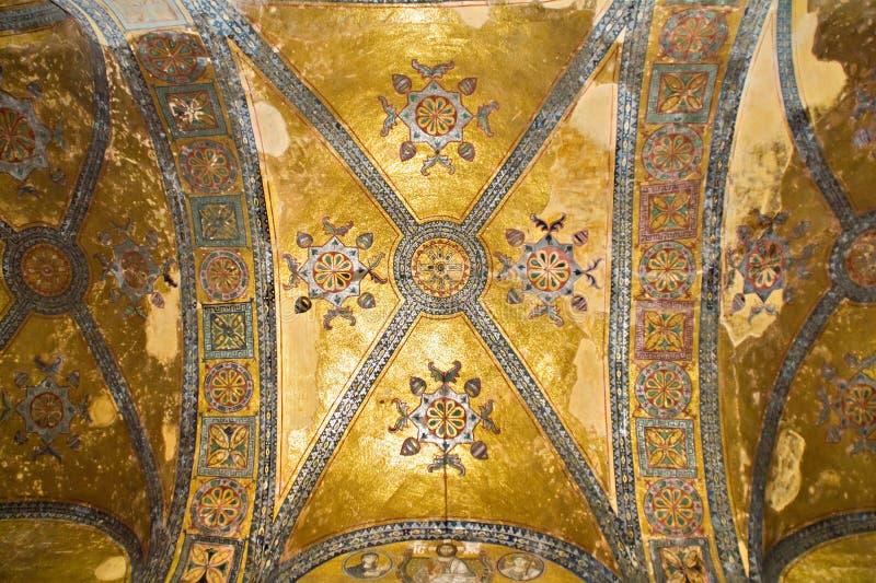W Hagia meczecie mozaika sufit Sophia obraz stock