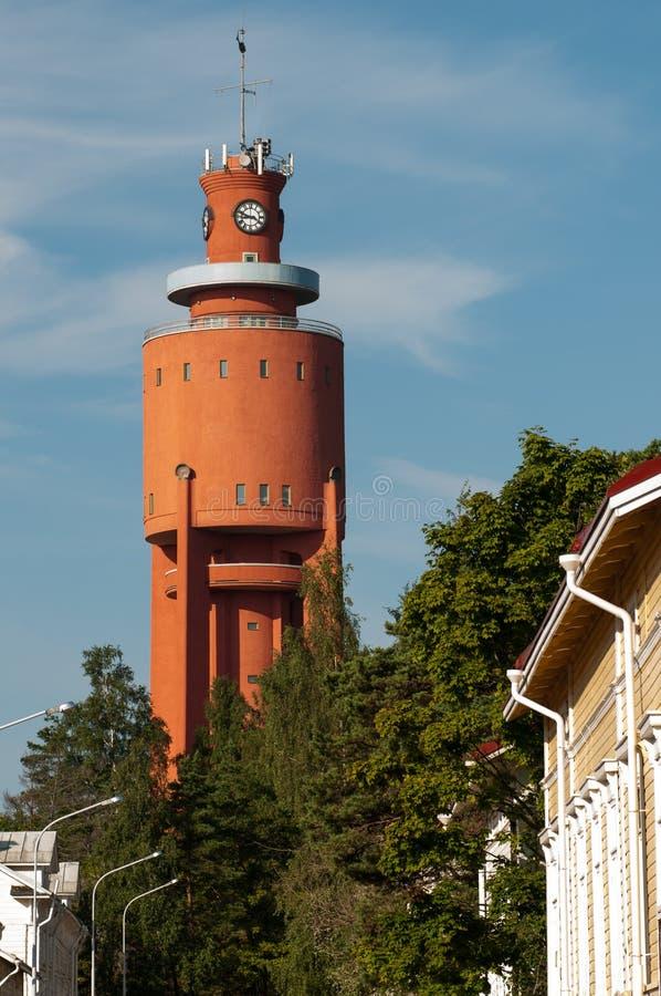 W Hanko Watertower, Finlandia fotografia stock