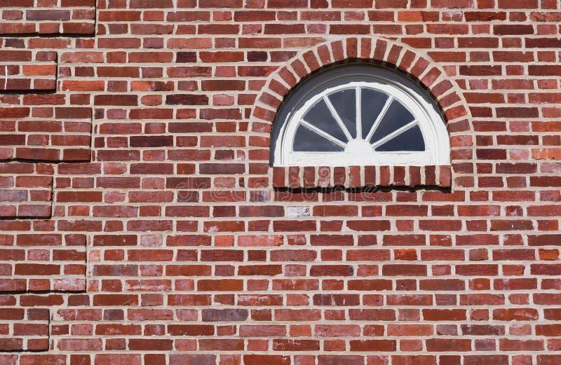 W Historycznym Domu Fanlight Okno obraz stock