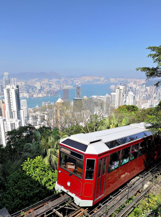 W Hong Kong szczytowy tramwaj zdjęcia stock