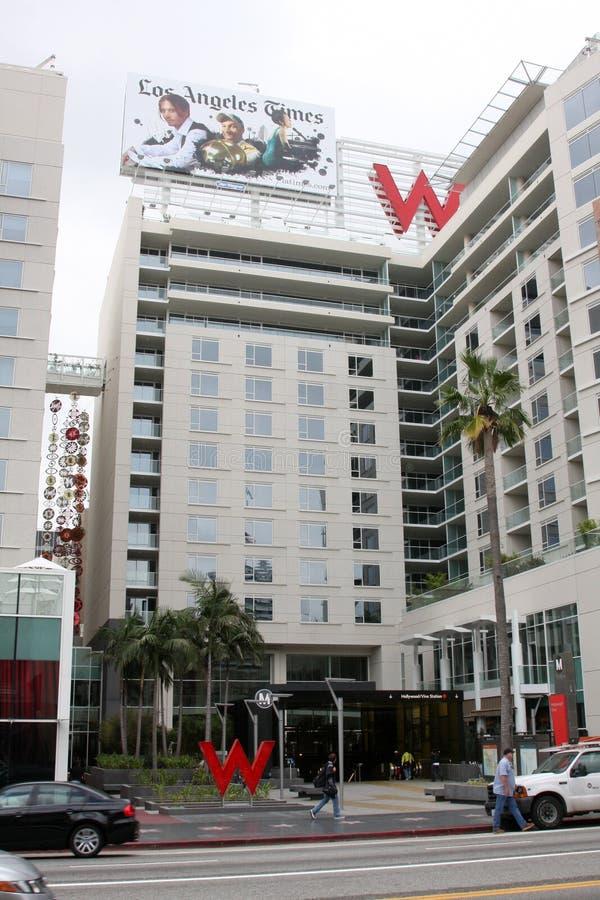 W Hotel, de Buitenkanten van Hollywood Hollywood stock foto's