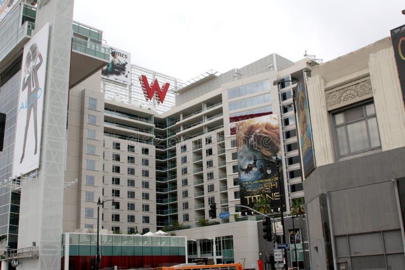 W Hotel, de Buitenkanten van Hollywood Hollywood stock afbeeldingen
