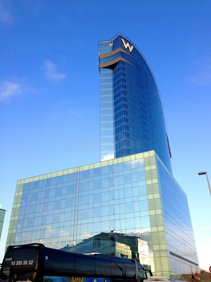 W-hotell - Barcelona royaltyfria bilder