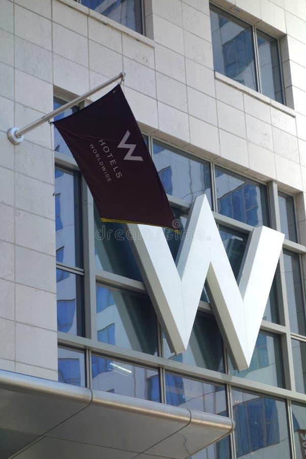 W Hotels royalty-vrije stock fotografie