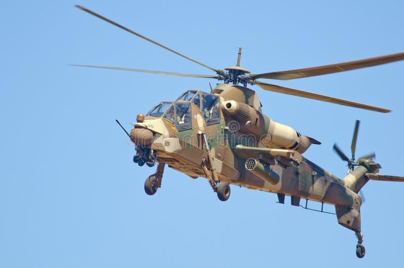 W hover Rooivalk helikopter fotografia stock