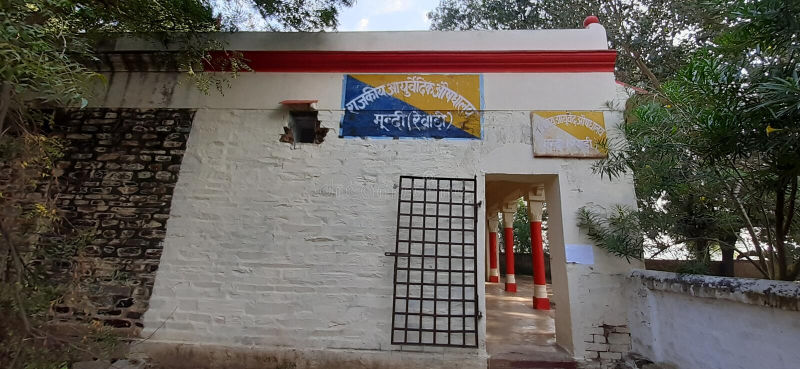 W Indiach haryna rewari mundi aaurvadik ausdhaliye zdjęcie stock
