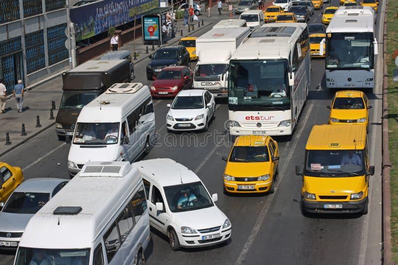 W Istanbuł ruch drogowy dżem zdjęcia royalty free