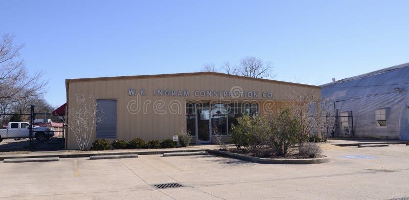 W K Ingram Construction Company, Memphis ocidental, AR imagens de stock