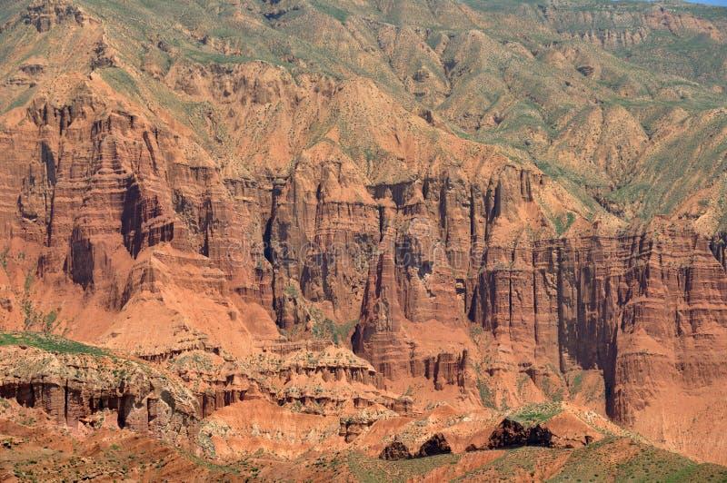 W kanbula Danxia landform fotografia royalty free