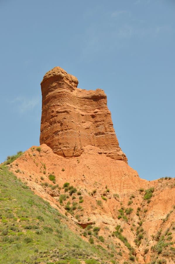 W kanbula Danxia landform zdjęcia royalty free