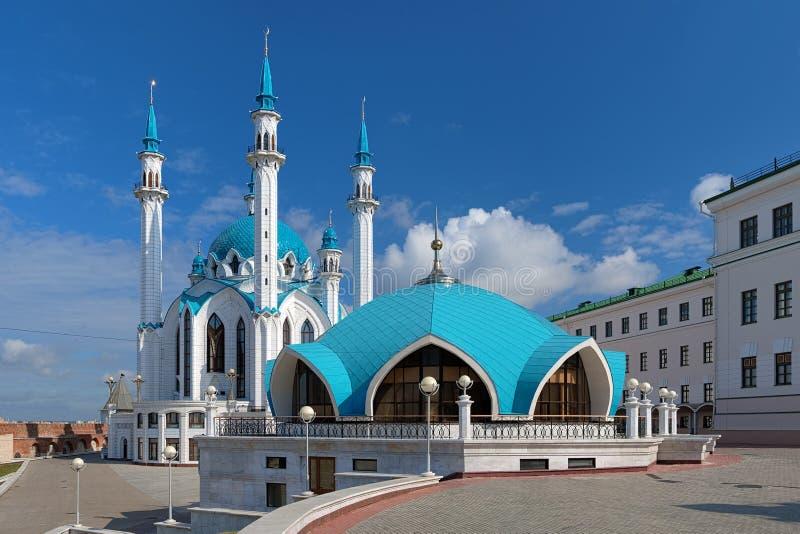 W Kazan Qolsharif Meczet Kremlin zdjęcie stock