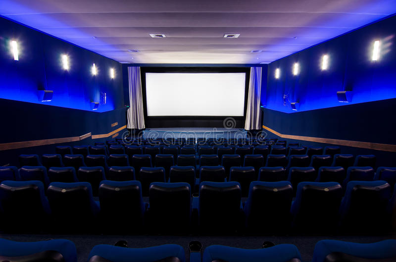 W kinowym teatrze zdjęcie royalty free