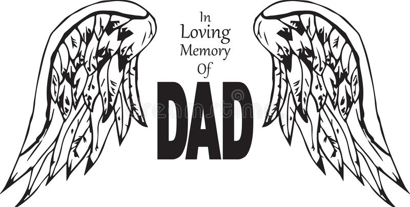 W kochającej pamięci tata royalty ilustracja