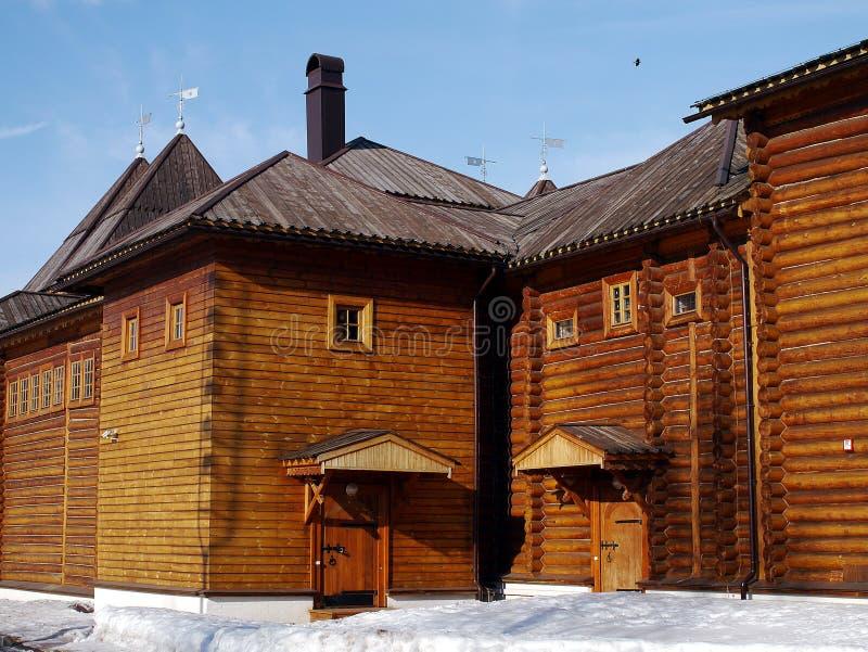 W Kolomenskoye drewniany pałac zdjęcie royalty free
