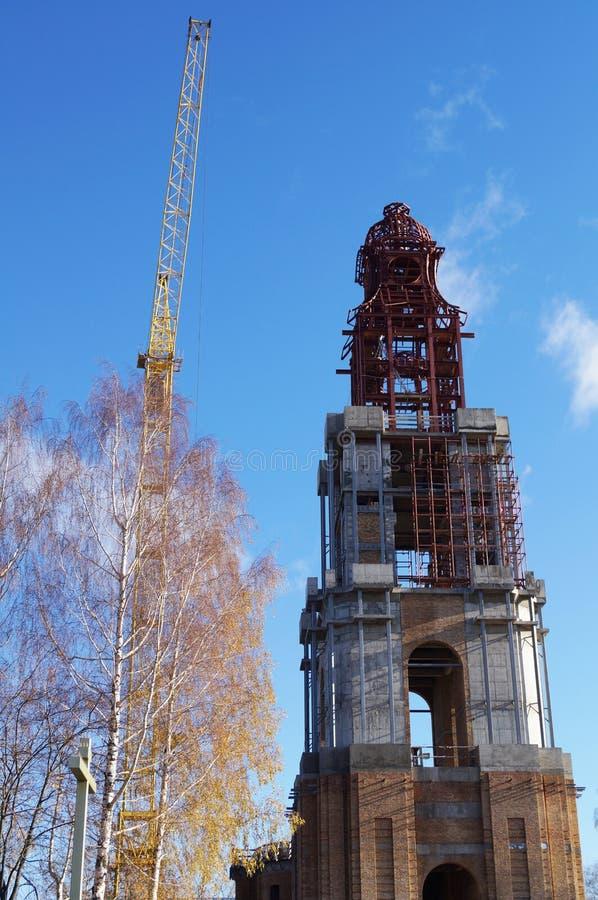 W Kostroma przywrócić historyczny budynek zdjęcie stock
