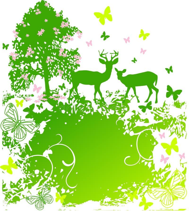 W kraju wiosna przyroda royalty ilustracja