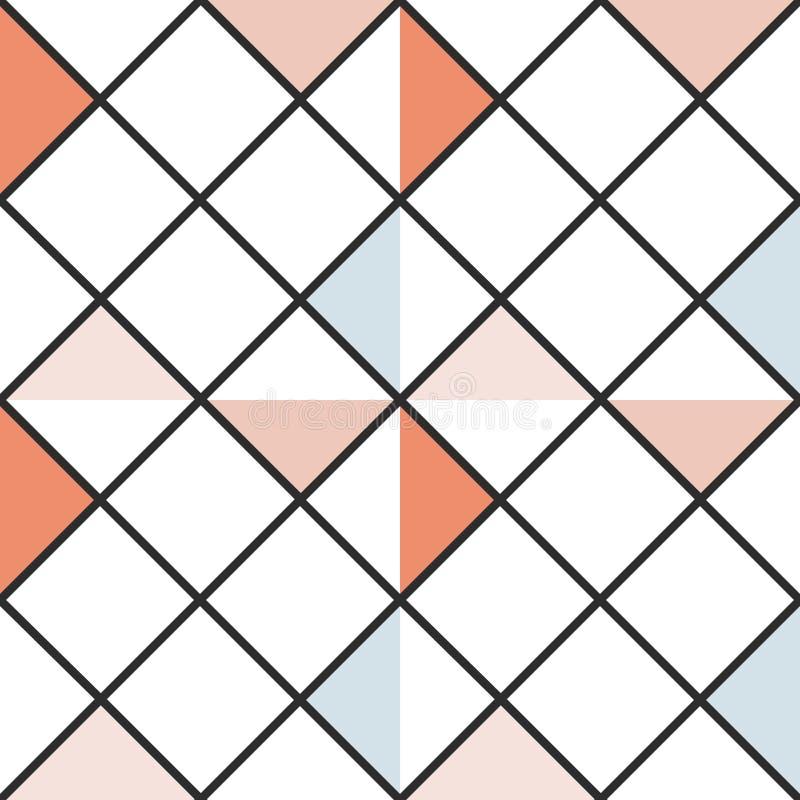 W kratkę abstraktów barwionych trójboków bezszwowy tło również zwrócić corel ilustracji wektora ilustracja wektor