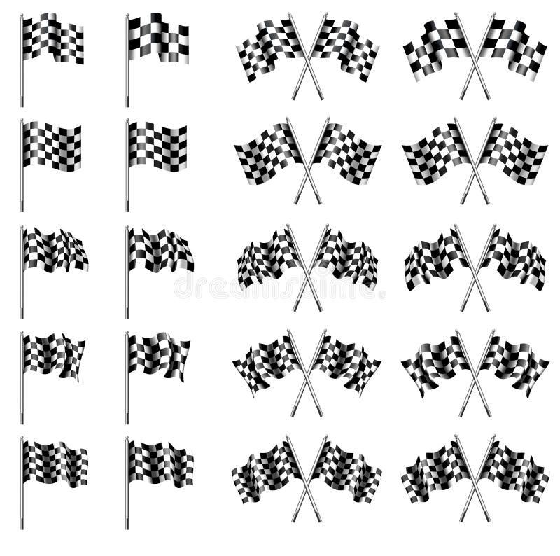 W kratkę, Chequered flaga, Jadą Ścigać się ilustracji