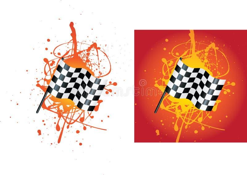 w kratkę flaga royalty ilustracja