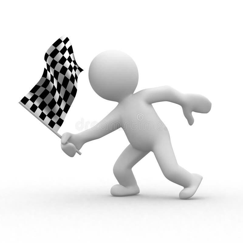w kratkę flaga ilustracja wektor