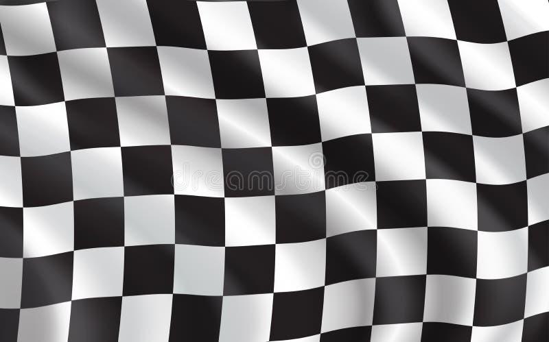 W kratkę flaga, samochodowy ścigać się sport royalty ilustracja