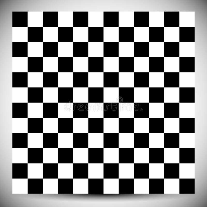 W kratkę geometryczny wzór Abstrakcjonistyczny uncolored wzór z squ ilustracja wektor