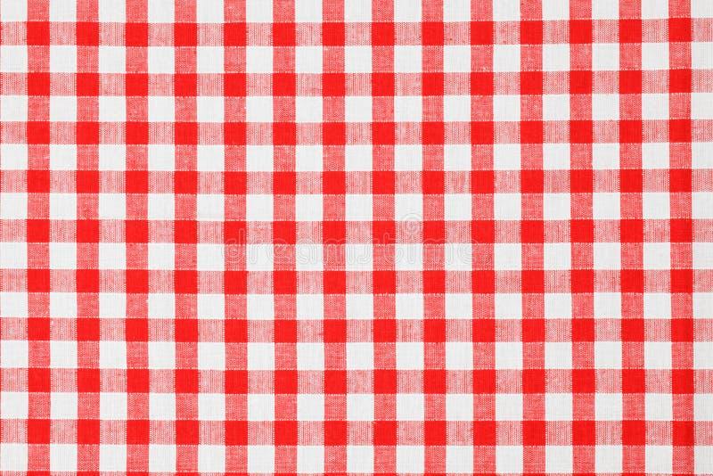 w kratkę tablecloth zdjęcie royalty free