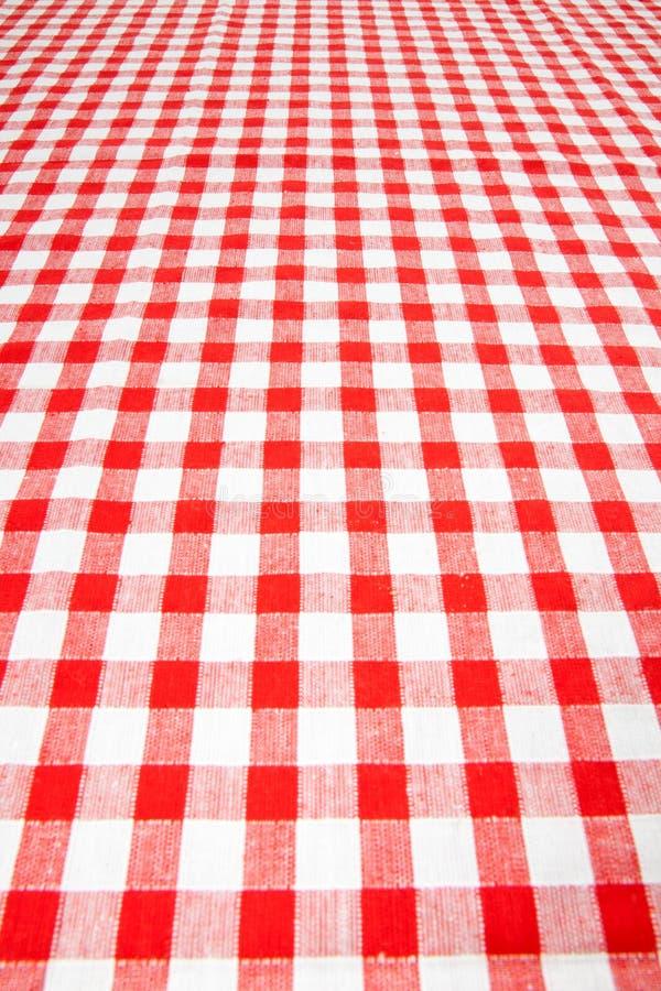 w kratkę tablecloth obrazy stock