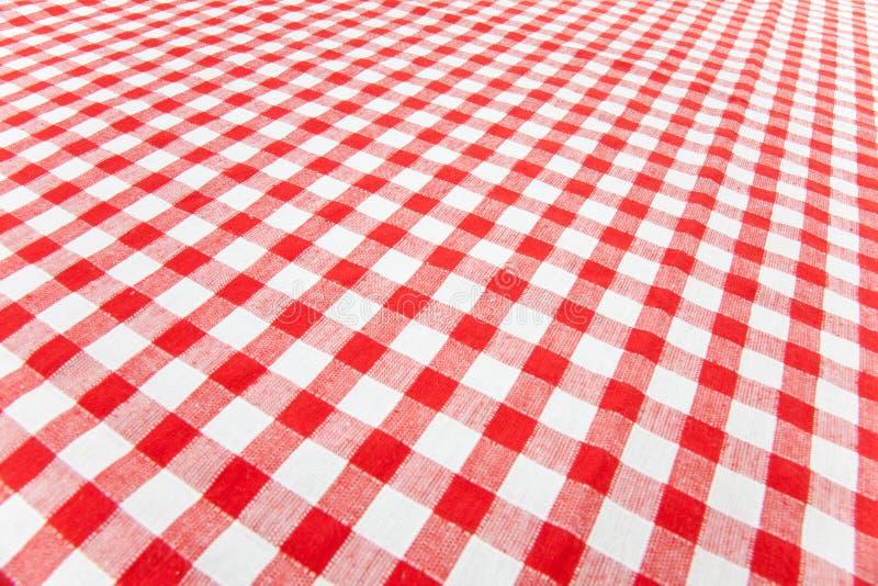 w kratkę tablecloth zdjęcia royalty free