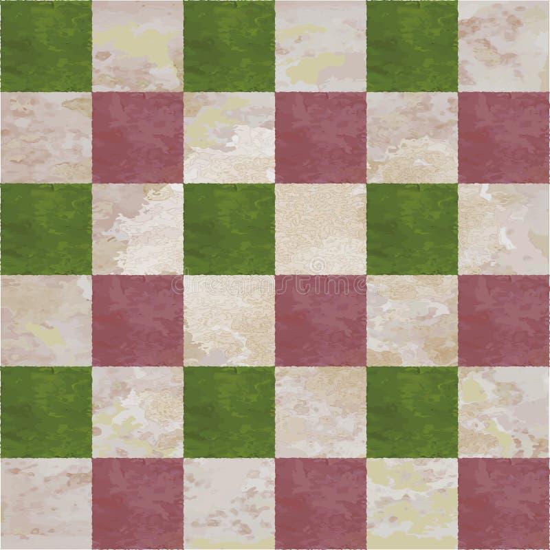 W kratkę wzór z akwareli teksturą royalty ilustracja