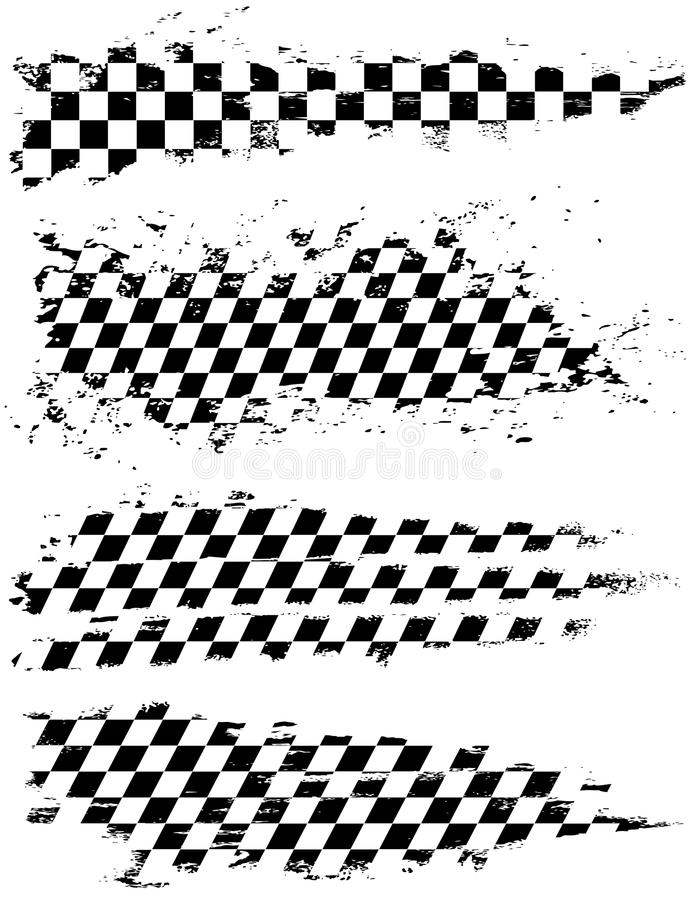 Download W kratkę flaga ilustracja wektor. Obraz złożonej z checkered - 20460054