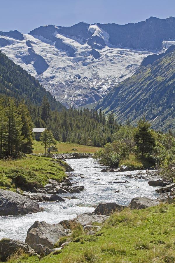 W Krimml Achental dolinie obraz royalty free