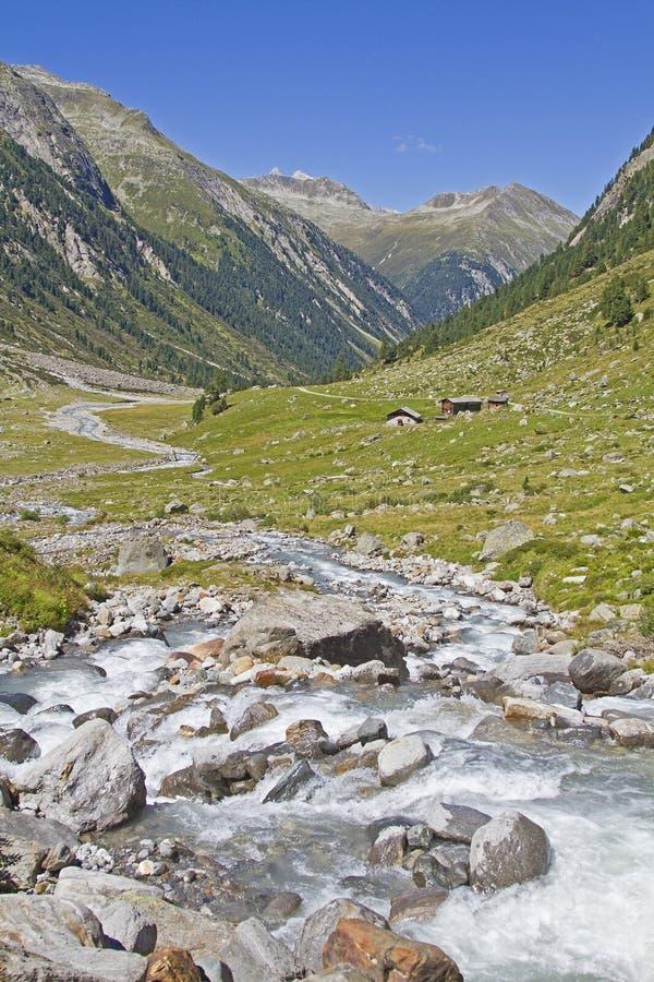W Krimml Achental dolinie obraz stock