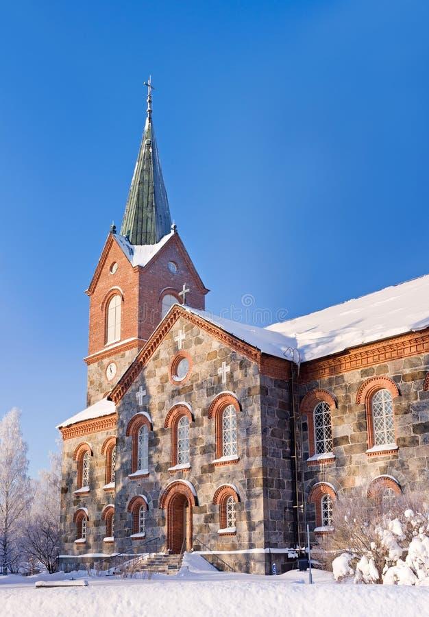 W Kuopio kamienny kościół, Finlandia zdjęcia royalty free