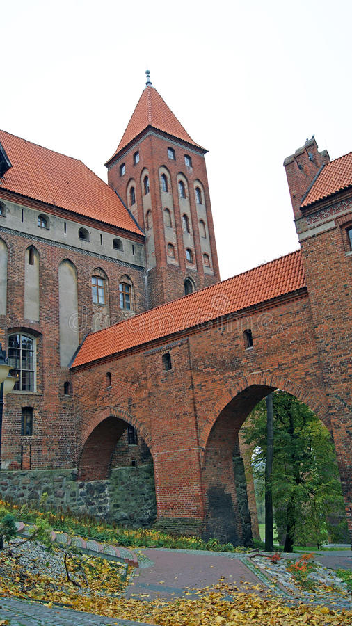 W Kwidzyn średniowieczny Teutoński Kasztel Zdjęcia Stock