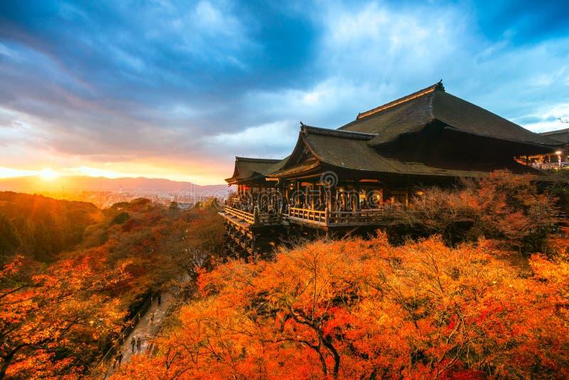 W Kyoto Kiyomizu-dera Świątynia, Japonia obraz royalty free
