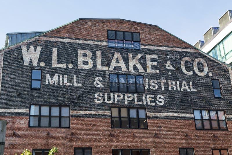 W L Blake Beyond Modern Portland Building royalty-vrije stock foto