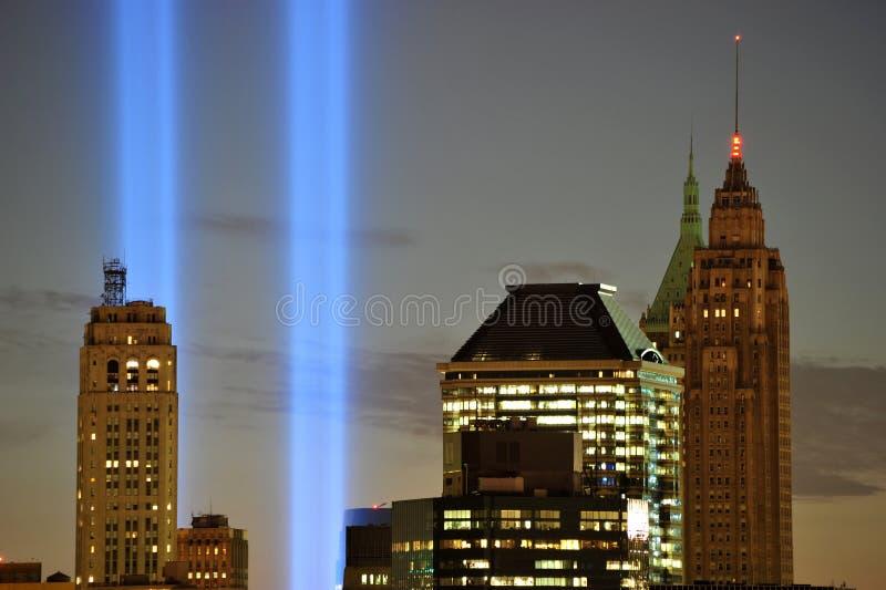 W Lekkim Zbliżeniu Wtc Uznanie 9/11 obraz royalty free