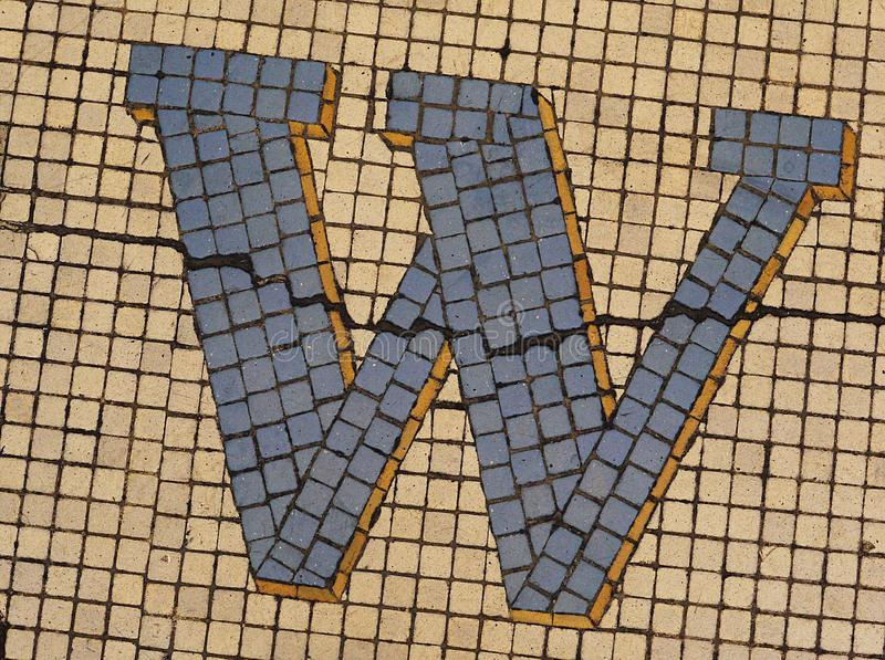 W. Letter from the alphabet stock photo