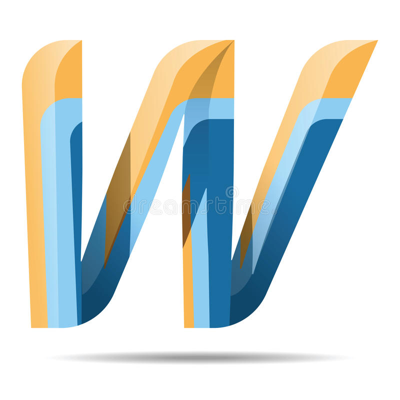 W Letter Colorful Modern alphabet logo vector illustration