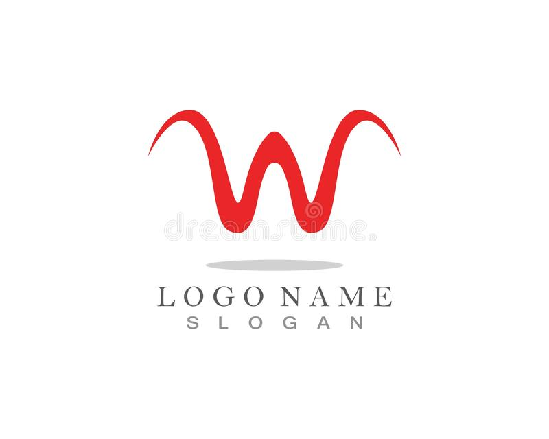 W Letter Logo Business Template Vector icon. W Letter Logo Business Template Vector icon, abc, accurate, achieved, advertising, alphabet, arrows, attorney, best stock illustration