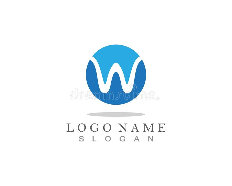 W Letter Logo Business Template Vector icon. W Letter Logo Business Template Vector icon, abc, accurate, achieved, advertising, alphabet, arrows, attorney, best royalty free illustration