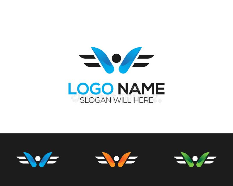 W Letter Logo Template online store vectors illustration. This is very easy to use. U ca Use as your won simply royalty free illustration