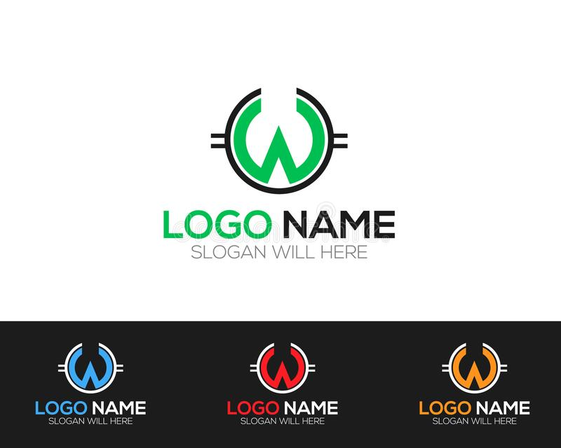 W Letter Logo Template online store vectors illustration. This is very easy to use. U ca Use as your won simply stock illustration