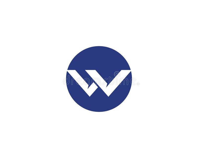 W Letter Logo Template royalty free illustration