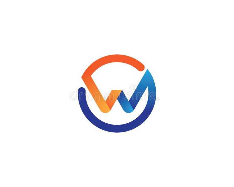 W letter logo vector icon stock illustration