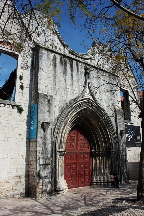 W Lisbon Carmo Klasztor, Portugalia obraz royalty free