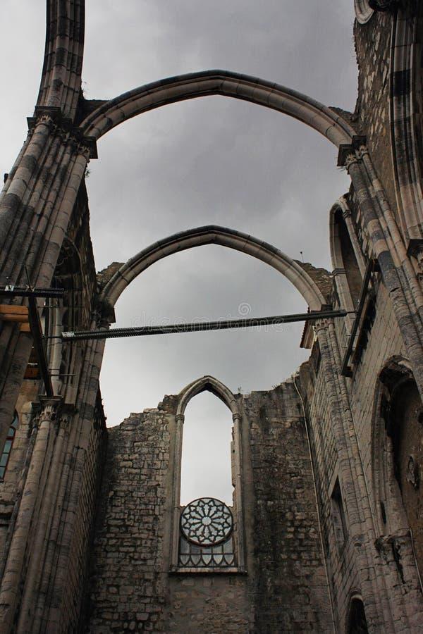 W Lisbon Carmo Klasztor, Portugalia zdjęcia royalty free