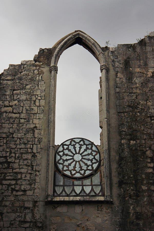 W Lisbon Carmo Klasztor, Portugalia zdjęcia stock
