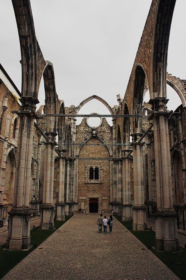 W Lisbon Carmo Klasztor, Portugalia zdjęcie royalty free
